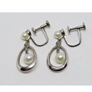 Mikimoto Jewelry - MIKIMOTO Sterling Silver Pearl Drop Earrings